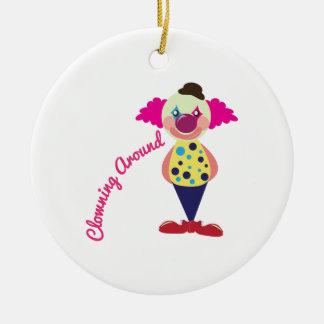 El Clowning alrededor Adornos De Navidad