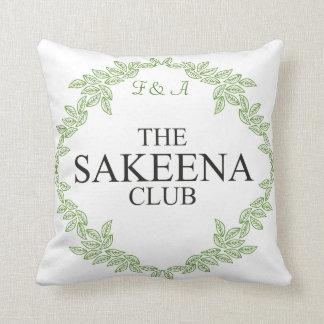 El club de Sakeena Cojín Decorativo