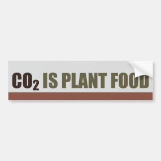 El CO2 es fortalecedor de plantas Etiqueta De Parachoque
