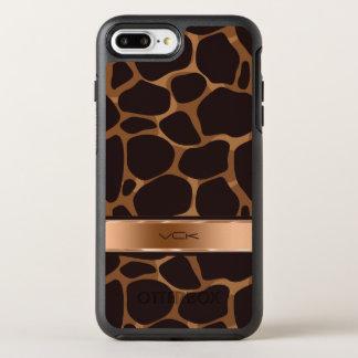 El cobre entona el modelo estilizado del leopardo funda OtterBox symmetry para iPhone 7 plus