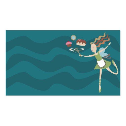 el cocer cocinando a la hada bate la tarjeta de plantilla de tarjeta de visita