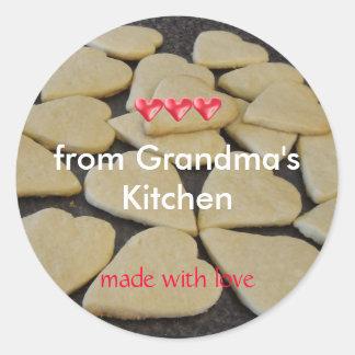 El cocer de cocina de las abuelas pegatina redonda