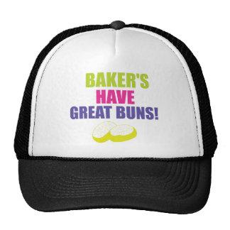 El cocer - los panaderos tienen buenos bollos gorros bordados
