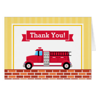 El coche de bomberos le agradece cardar la tarjeta