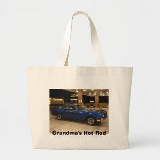El coche de carreras de la abuela bolsa lienzo