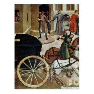 El coche fúnebre postales