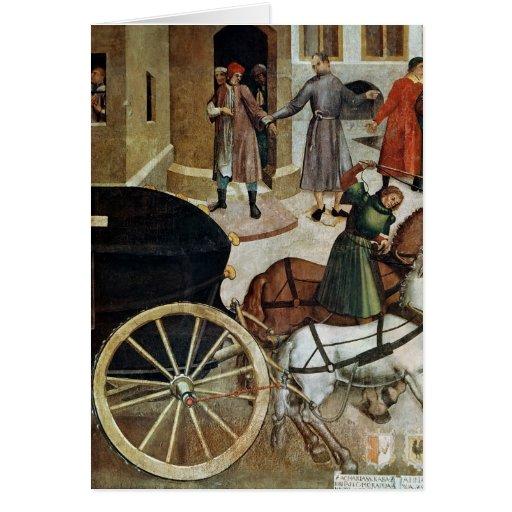 El coche fúnebre tarjeta