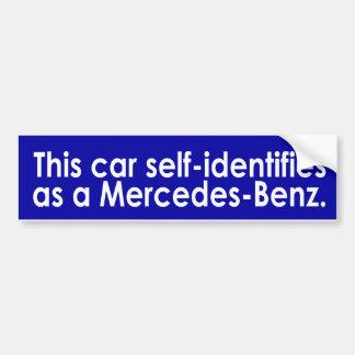 el coche uno mismo-identifica a la pegatina para