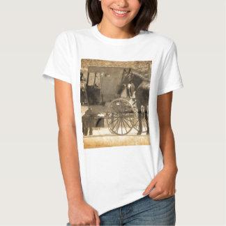 El cochecillo antes del caballo, Amish trae el Camisetas