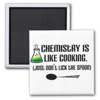 El cocinar de la química imán