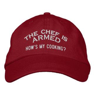El cocinero es 2 ARMADOS Gorro Bordado