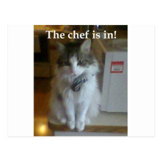 ¡El cocinero está adentro! Tarjeta Postal