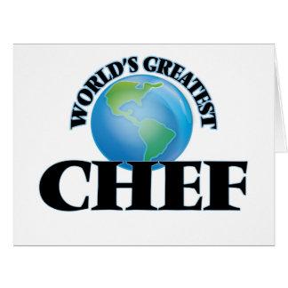 El cocinero más grande del mundo tarjetas
