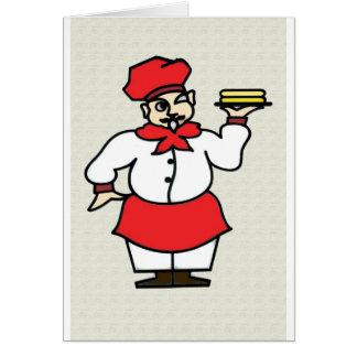 El cocinero tarjeta