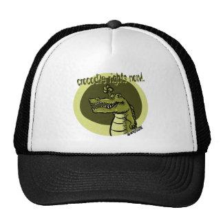 el cocodrilo ahora endereza verde gorro de camionero