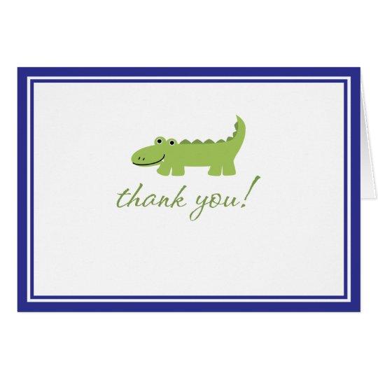 El cocodrilo de muy buen gusto le agradece tarjeta pequeña