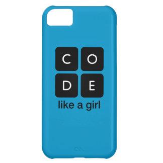 El código tiene gusto de un chica funda para iPhone 5C