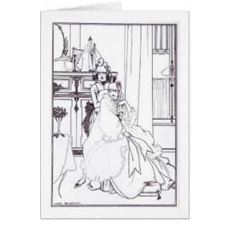 """El Coiffing, del poema """"la balada de una Barbe Tarjetas"""