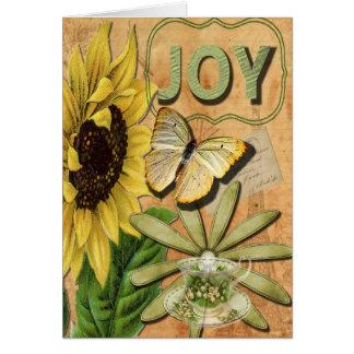 El collage bonito de la alegría, consigue bien tarjeta de felicitación
