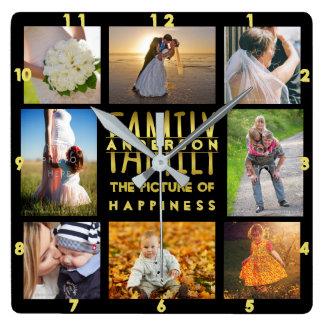 El collage de la foto de familia añade el negro reloj cuadrado