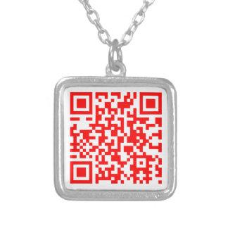 Collar Plateado El collar moderno de la tarjeta de visita