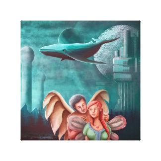 El collar y la princesa Fairy del ángel Impresión En Lienzo