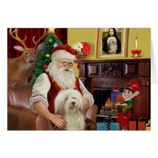 El collie barbudo de Santa (#16) Tarjeta