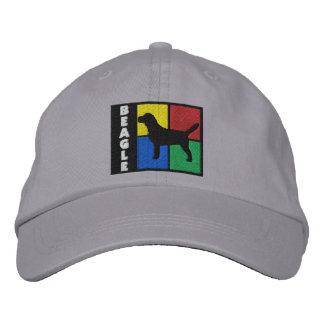 El color ajusta el beagle gorra de beisbol bordada