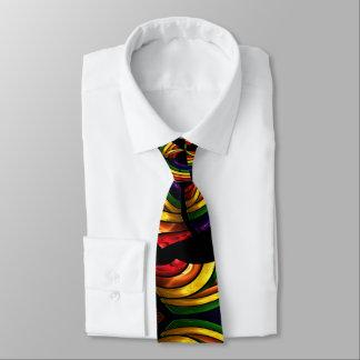 el color brillante remolina jefe corbatas