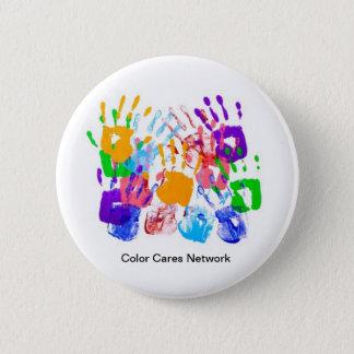 El color cuida el botón de la red