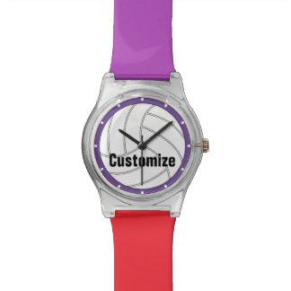 El color de encargo embroma el reloj del voleibol