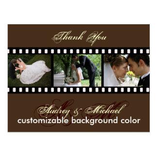 El color de encargo/las fotos le agradece las postal
