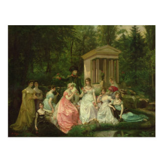 El color de rosa de Malmaison, c.1867 Postal