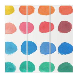 El color del artista muestrea arte del tríptico