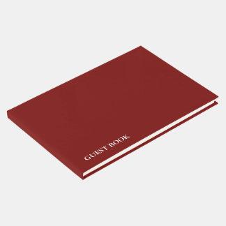 El color del cambio de la PLANTILLA DIY añade Libro De Visitas
