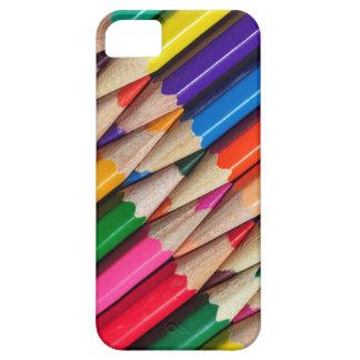 el color dibujó a lápiz textura del fondo de los iPhone 5 fundas