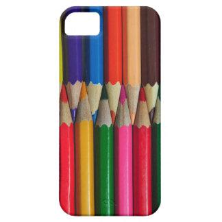 el color dibujó a lápiz textura del fondo de los iPhone 5 protector