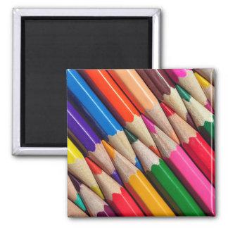 el color dibujó a lápiz textura del fondo de los imanes para frigoríficos
