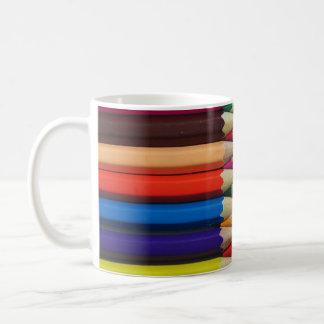 el color dibujó a lápiz textura del fondo de los taza