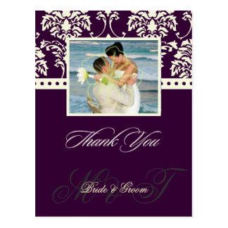 El color/el boda de DIY le agradece las postales