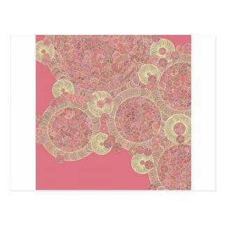 el color floral del modelo rosado abstracto postal