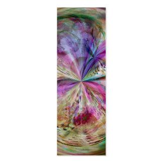 El color que fluye, resume la señal de las ilustra tarjeta de visita