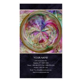 El color que fluye, resume las ilustraciones plantillas de tarjetas personales