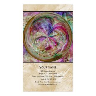 El color que fluye, resume las ilustraciones tarjeta de visita