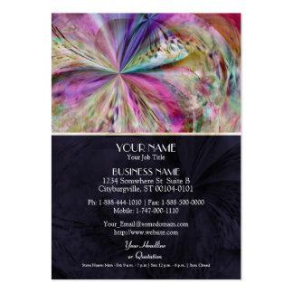 El color que fluye, resume las ilustraciones plantilla de tarjeta de visita