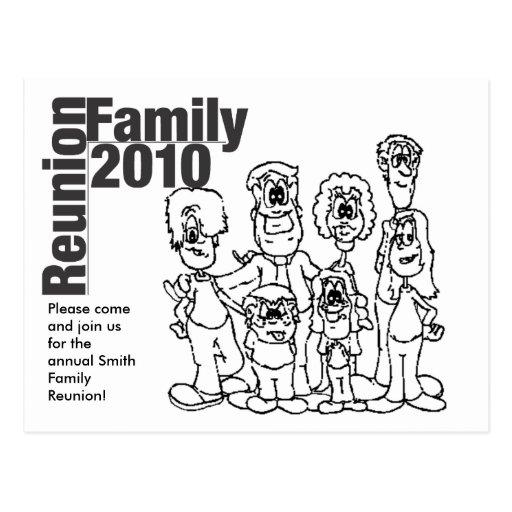 El colorante 2010 de la reunión de familia invita tarjeta postal