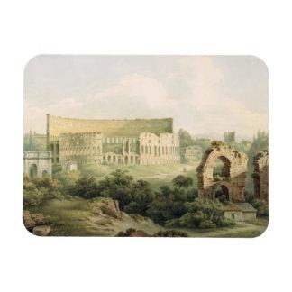 El Colosseum Roma 1802 w c sobre el grafito en Imanes Rectangulares