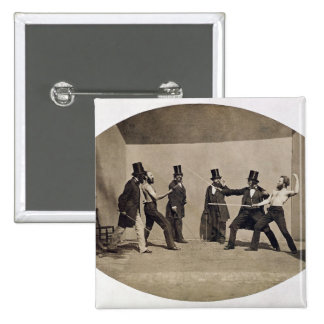 El combatir en duelo (foto) chapa cuadrada 5 cm
