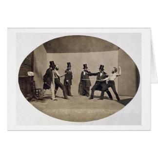 El combatir en duelo (foto) tarjeta de felicitación