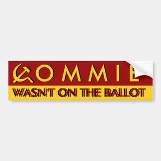 El Commie no estaba en la votación Pegatina Para Coche